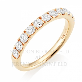 Diamond Half Eternity Ring in 18ct Rose Gold with 0.77ct