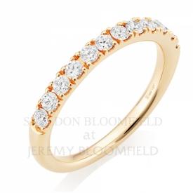 Diamond Half Eternity Ring in 18ct Rose Gold with 0.55ct GVS diamonds