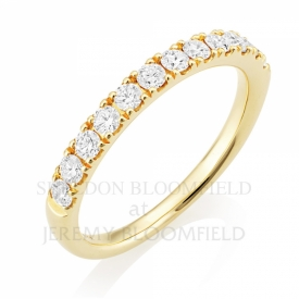 Diamond Half Eternity Ring in 18ct Yellow Gold with 0.55ct GVS diamonds