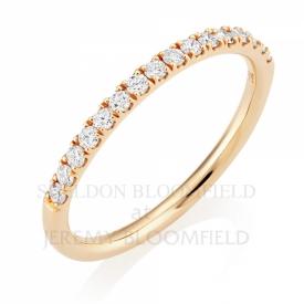 Diamond Half Eternity Ring in 18ct Rose Gold with 0.27ct GVS diamonds