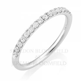 Diamond Half Eternity Ring in 18ct White Gold with 0.27ct GVS diamonds
