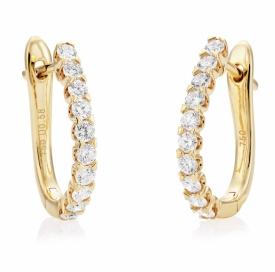 Diamond Claw Set Demi-Hoop Earring 0.58ct