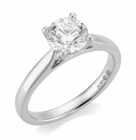Platinum Diamond Ring 1.21ct