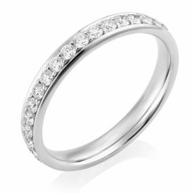 Platinum Diamond Full Eternity Ring 0.70ct