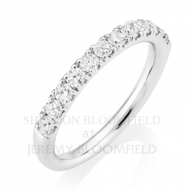 GVS Diamond Half Eternity Ring in 18ct White Gold 0.55ct