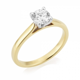 Classic Set Round Brilliant Solitaire Ring 0.70ct