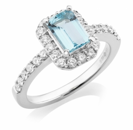 Aquamarine Ring 1.79ct in Platinum