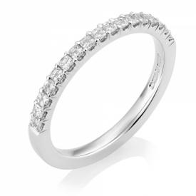 Platinum Asscher Cut Diamond Half-Eternity Ring 0.36ct
