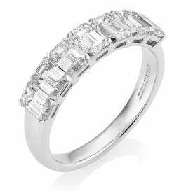 Resplendent Emerald Cut Diamond 7-stone Ring 1.82ct