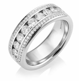 Half Eternity 3-layer Diamond Ring 1.25ct