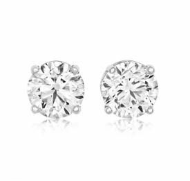 Platinum Diamond Earrings 1.80ct