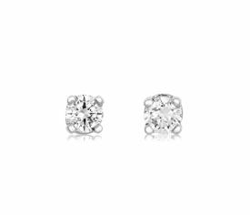 Platinum Diamond Earrings 0.12ct