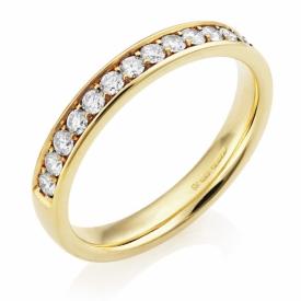 Open Channel Claw Set Diamond Half Eternity Ring 0.45ct