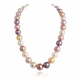 Mixed Colour 'Candyfloss' Pearl Necklace