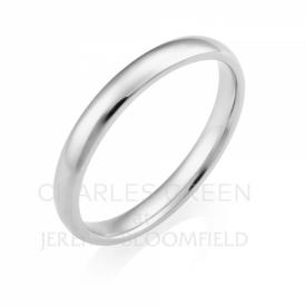 Light Court 2.5mm Platinum Wedding Ring handmade