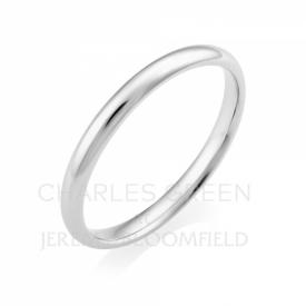 Light Court 2mm Platinum Wedding Ring handmade