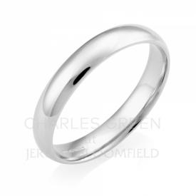 Light Court 4mm Platinum Wedding Ring