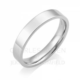 Medium Flat Court 4mm Platinum Wedding Ring