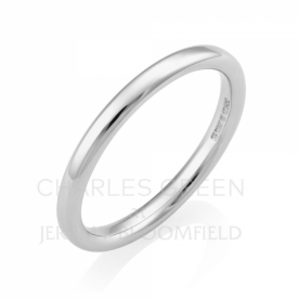Luxury Court 2mm Platinum Wedding Ring
