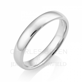 Luxury Court 4mm Platinum Wedding Ring