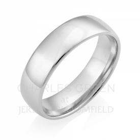 Luxury Court 6mm Platinum Wedding Ring handmade