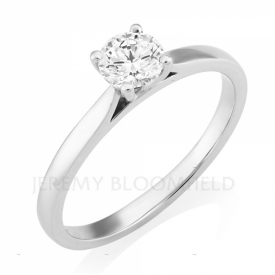Round Brilliant Diamond Solitaire in Platinum 0.50ct