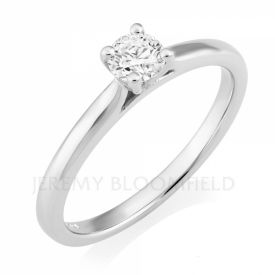 Round Brilliant Diamond Solitaire in Platinum 0.30ct
