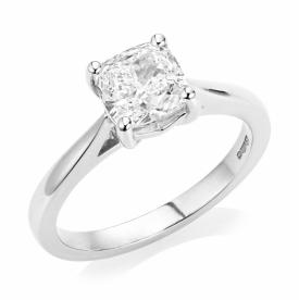 Cushion Cut Diamond Ring in Platinum 1.50ct