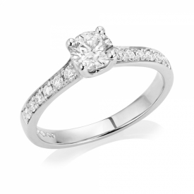 Diamond Engagement Ring 0.50ct in Platinum