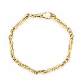Trombone Bracelet in 9ct Yellow Gold