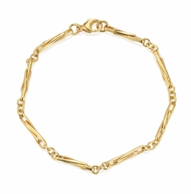9ct Yellow Gold Small Twisted Trombone Bracelet
