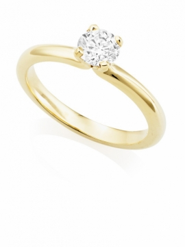 18ct Yellow Gold Brilliant Cut Diamond Ring - 0