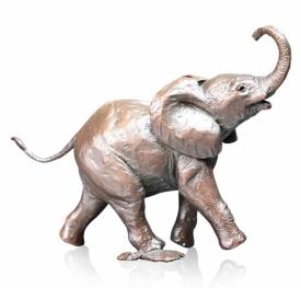 Richard Cooper Bronze Baby Elephant Running