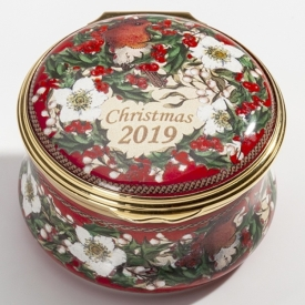 Halcyon Days Christmas Enamel Box for 2019