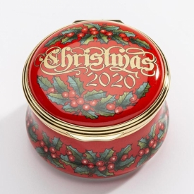 Halcyon Days 2020 Enamel Christmas Box