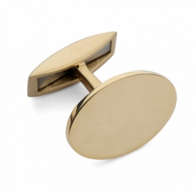 Oval Bar Cufflinks in 9ct Yellow Gold