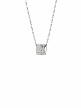 FUSION PENDANT in 18ct White Gold with Pavé set Diamonds