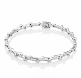 Diamond Raindrop Double Strand Bracelet 0.91ct H SI1