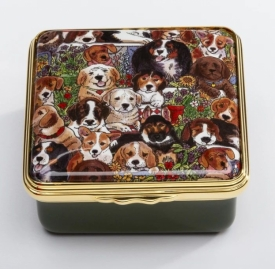 Dogs Leave Paw Prints On your Heart Box