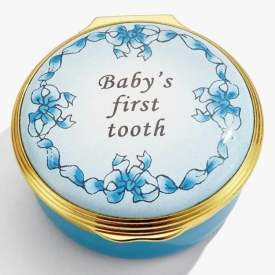 Baby's First Tooth Blue Box by Halcyon Days