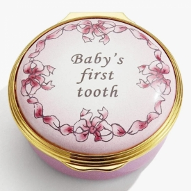 Halcyon Days Baby's First Tooth Pink Box