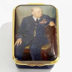 Churchill Box with Portrait by Douglas Granville Chandor by Halcyon Days