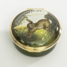 Enamel Bunny Box by Halcyon Days