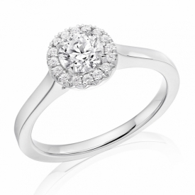 French Cut Halo with Round Brilliant Diamond