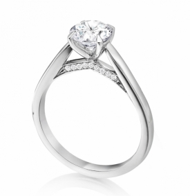 Signature Collection Ring with 0.50ct Round Brilliant