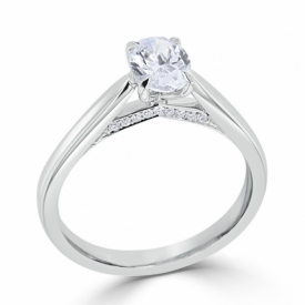 Signature Collection Ring with 0.50ct Oval Diamond