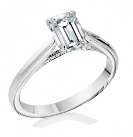 Signature Collection Ring with 0.50ct Emerald cut Diamond