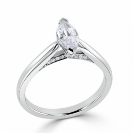 Signature Collection Ring with 0.50ct Marquise