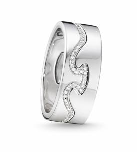 FUSION 2-piece ring in 18ct white gold with brilliant cut diamonds