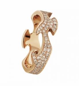FUSION Rose Gold Centre Ring with cinnamon diamonds